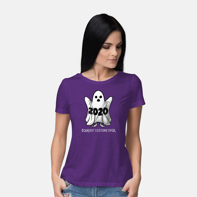 Scariest Costume Ever-womens basic tee-eduely