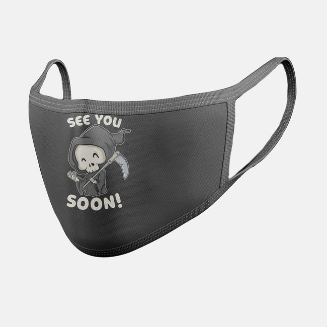 See You Soon-unisex basic face mask-turborat14