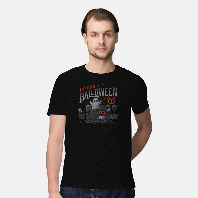 Indoor Halloween-mens premium tee-eduely