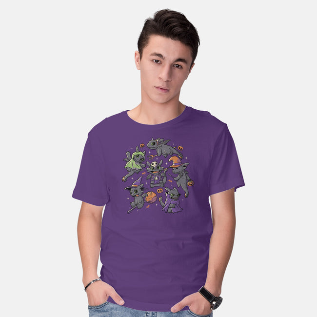 Halloween Dragons-mens basic tee-eduely