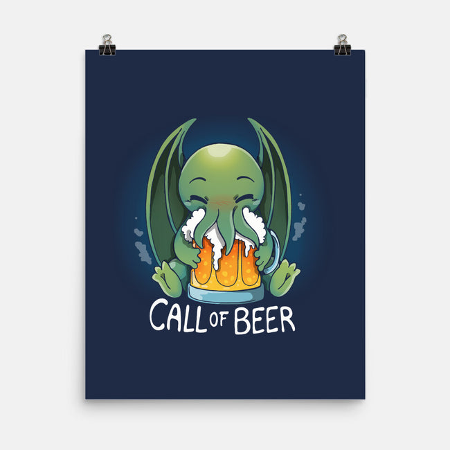 Call Of Beer-none matte poster-Vallina84