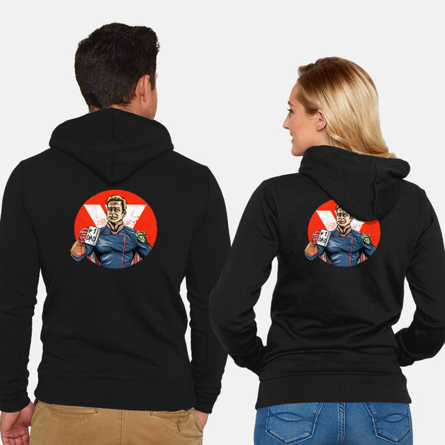 Super Dad-unisex zip-up sweatshirt-zascanauta