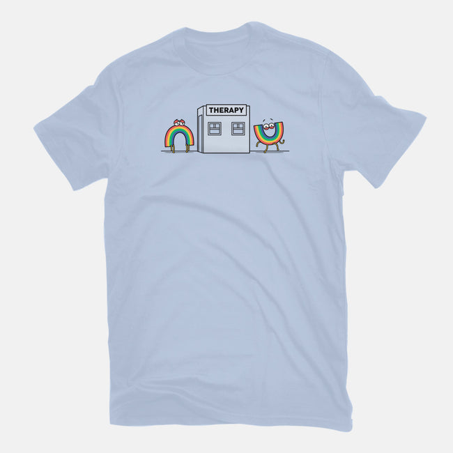 Rainbow Therapy-womens fitted tee-Raffiti