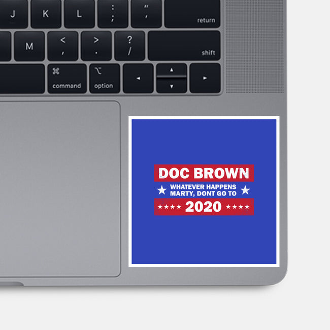 Doc Brown 2020-none glossy sticker-kg07