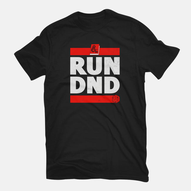 Run DND-mens basic tee-shirox