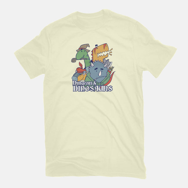 Dungeons and Dinosaurs-mens basic tee-T33s4U