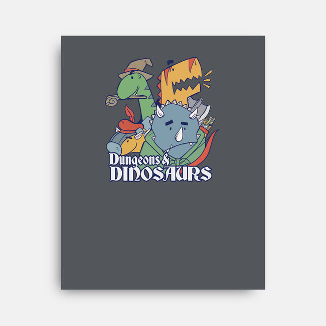 Dungeons and Dinosaurs-none stretched canvas-T33s4U
