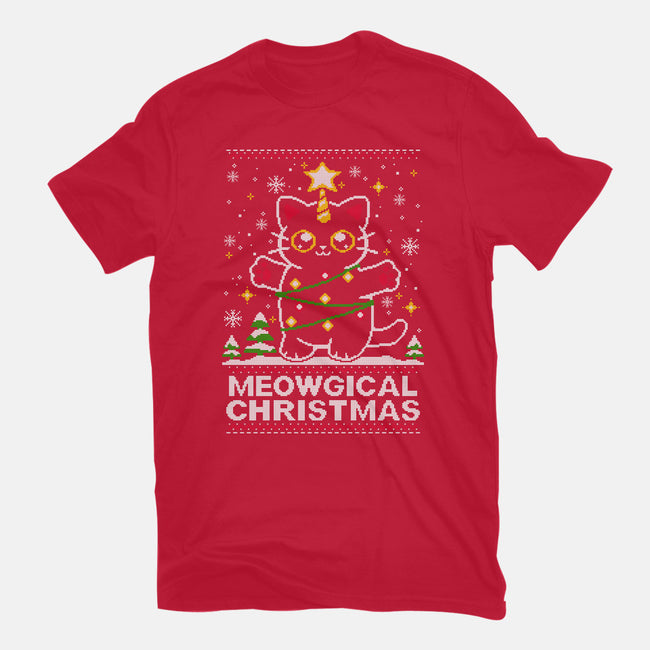 Meowgical Christmas-mens basic tee-NemiMakeit