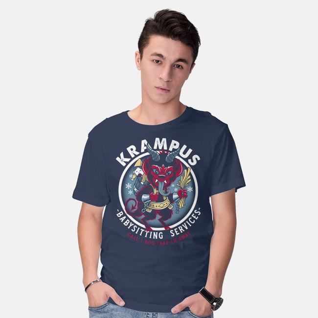 Krampus Babysitting Services-mens basic tee-Nemons