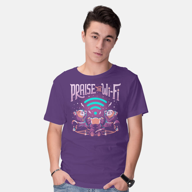 Praise The Wifi-mens basic tee-eduely