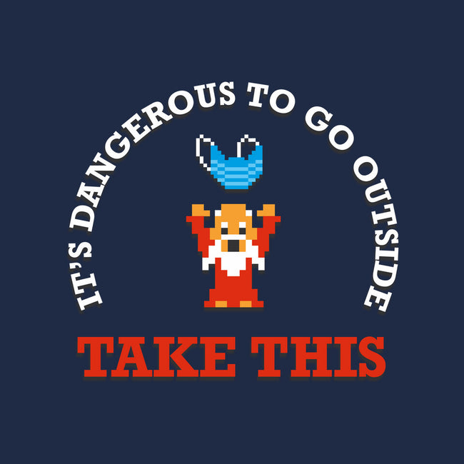 Dangerous to Go Outside-womens basic tee-jamesbattershill