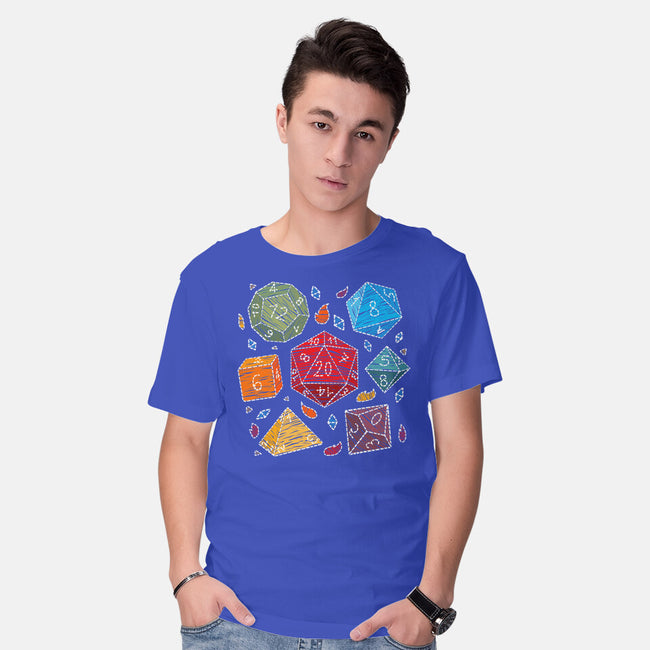 Embroidery Dice-mens basic tee-Vallina84