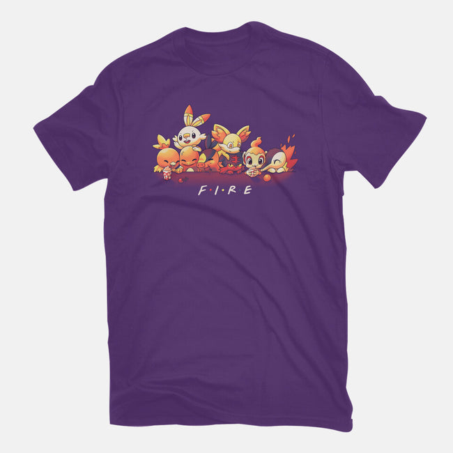 Fire Friends-mens basic tee-Geekydog