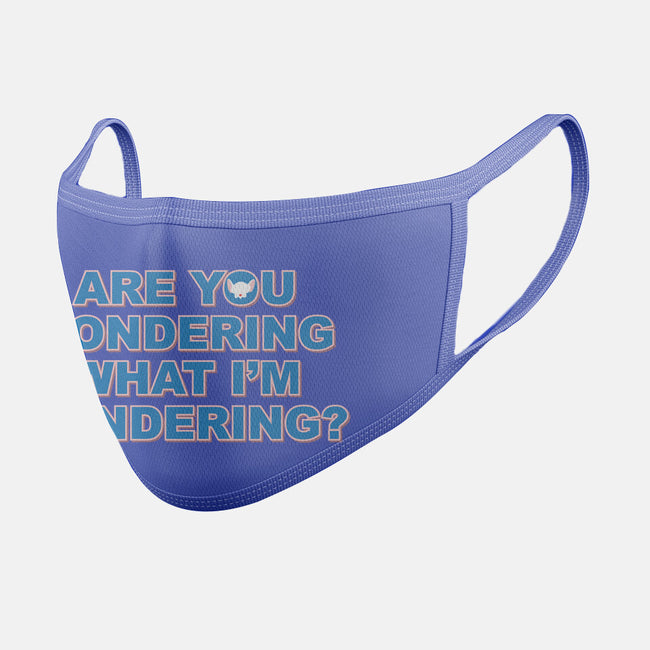 Are You Pondering-unisex basic face mask-powered_up