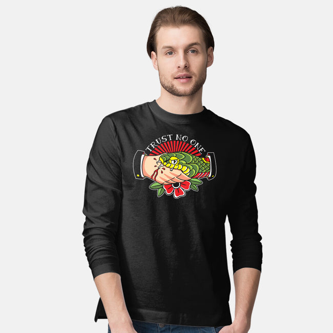 Trust No One Tattoo-mens long sleeved tee-Bezao Abad