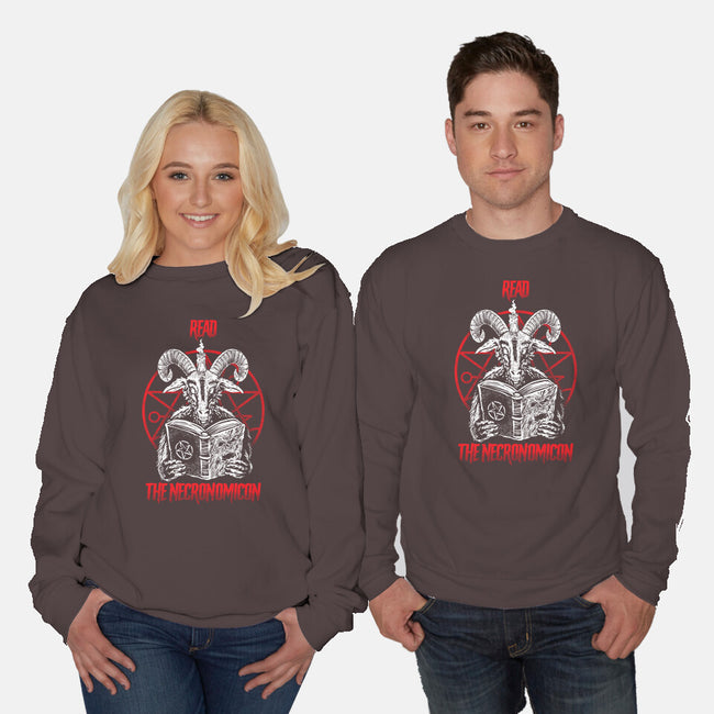 Read The Necronomicon-unisex crew neck sweatshirt-Bezao Abad