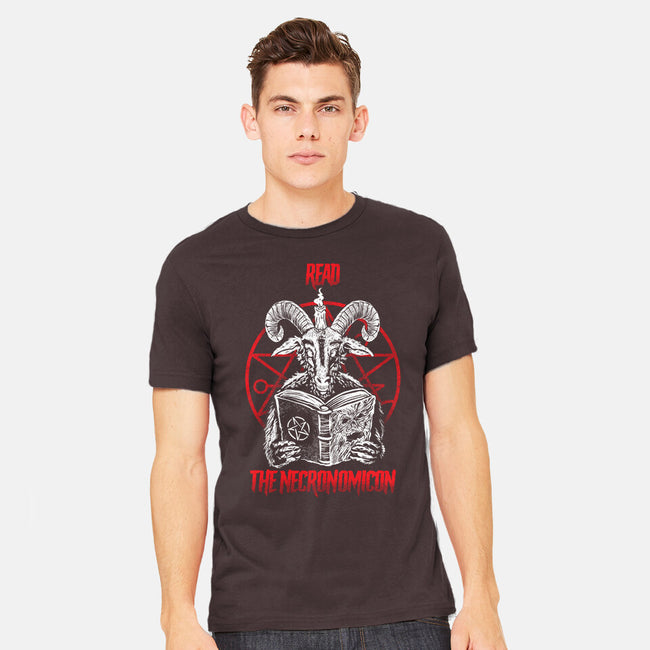 Read The Necronomicon-mens heavyweight tee-Bezao Abad