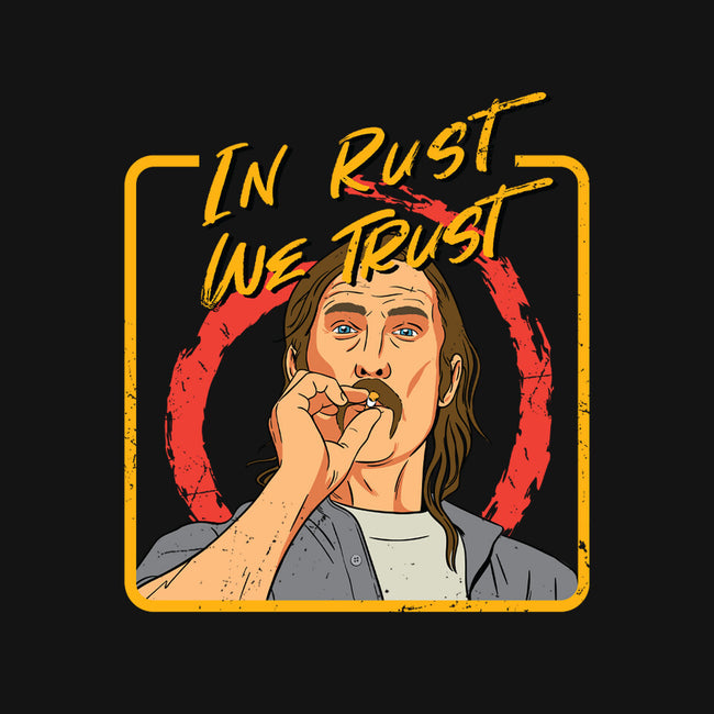 In Rust We Trust-youth basic tee-Sergiouart