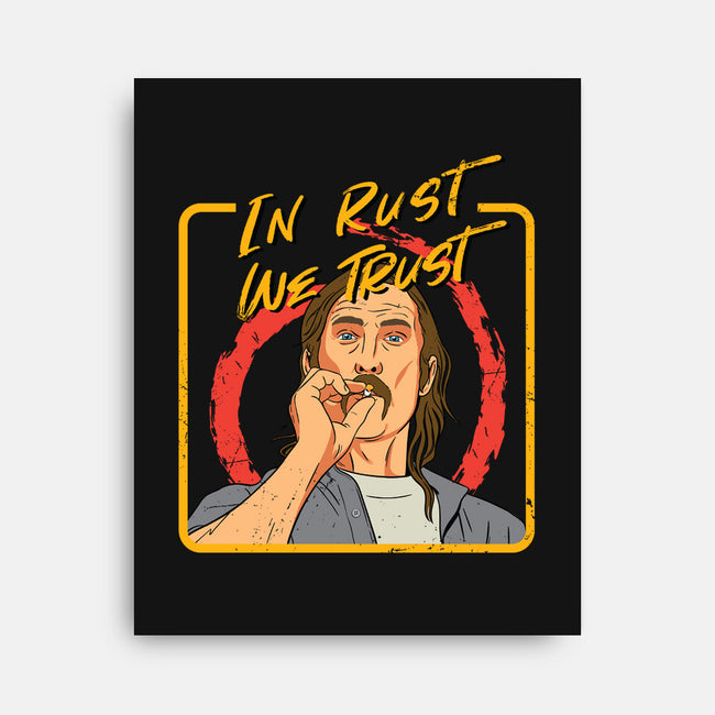 In Rust We Trust-none stretched canvas-Sergiouart