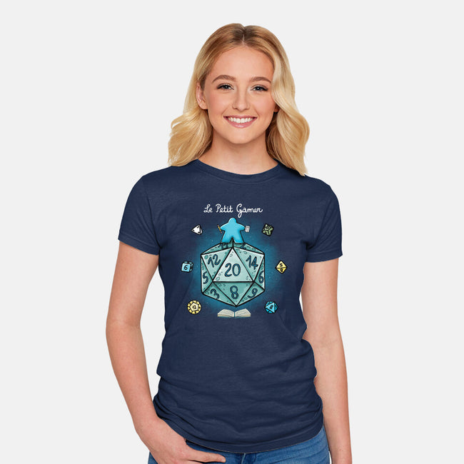 Le Petit Gamer-womens fitted tee-Vallina84