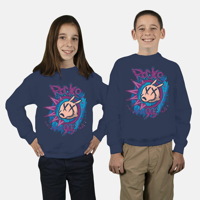 Rocko 90s-youth crew neck sweatshirt-Angel Rotten