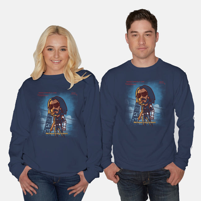 A City To Burn-unisex crew neck sweatshirt-estudiofitas