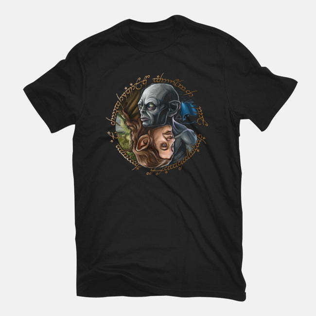 Middle Earth Yin And Yang-mens premium tee-daobiwan