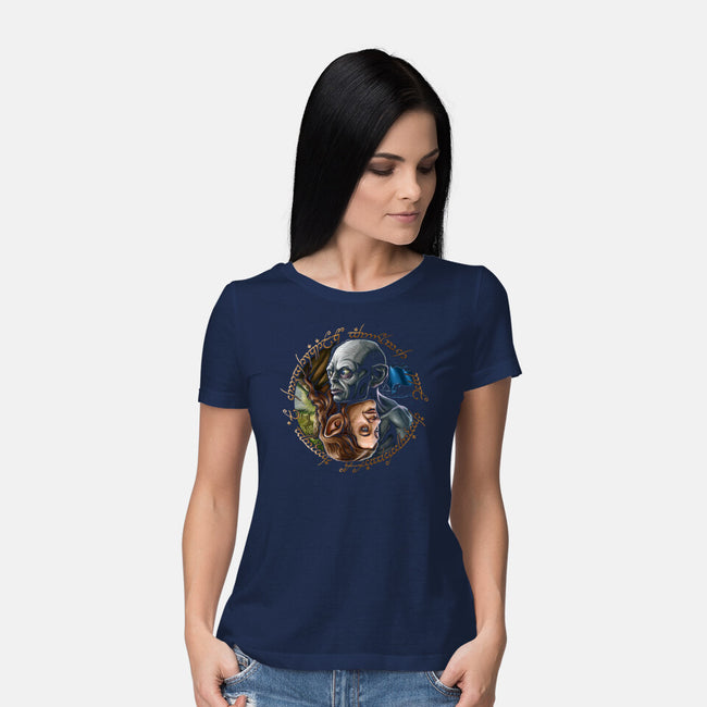 Middle Earth Yin And Yang-womens basic tee-daobiwan
