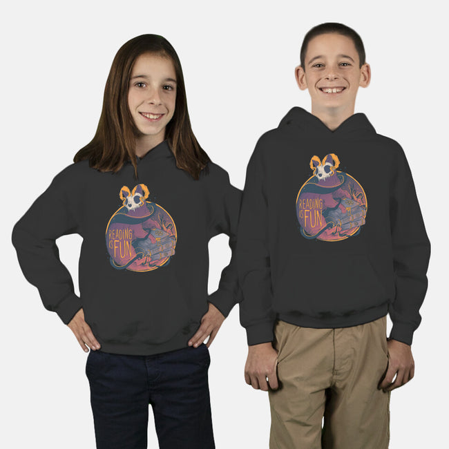 Reading For Fun-youth pullover sweatshirt-Jess.Adams.Creates