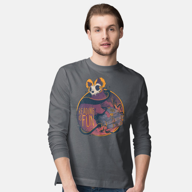 Reading For Fun-mens long sleeved tee-Jess.Adams.Creates