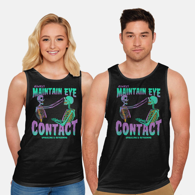 Maintain Eye Contact-unisex basic tank-rocketman_art
