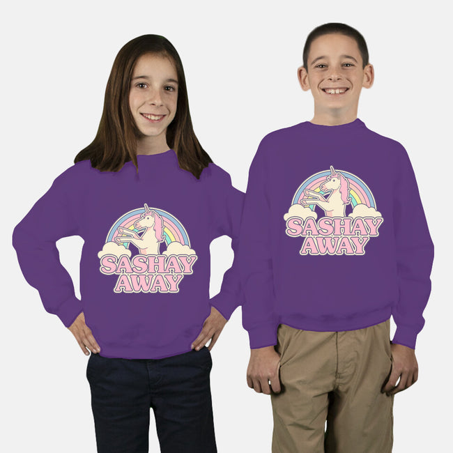 Sashay Away-youth crew neck sweatshirt-Thiago Correa