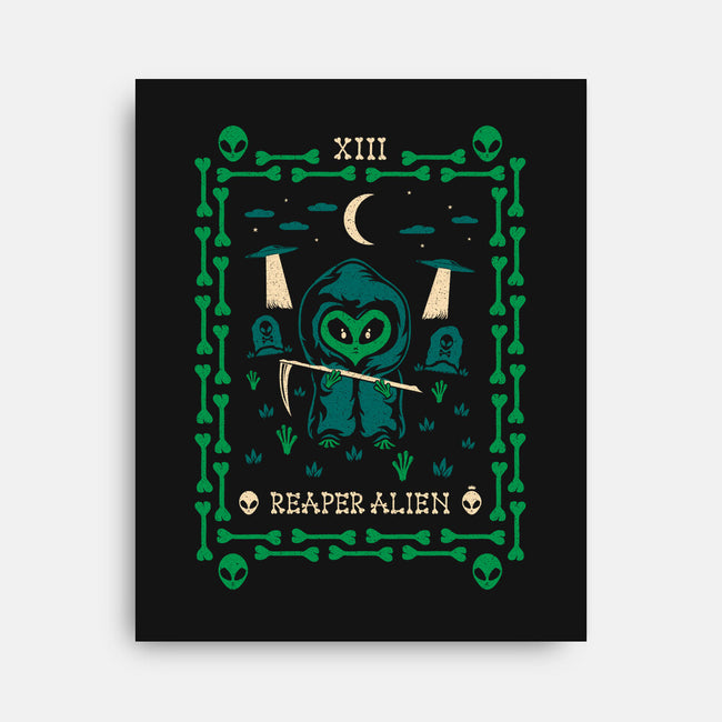 Reaper Alien Tarot Card-none stretched canvas-TheWizardLouis