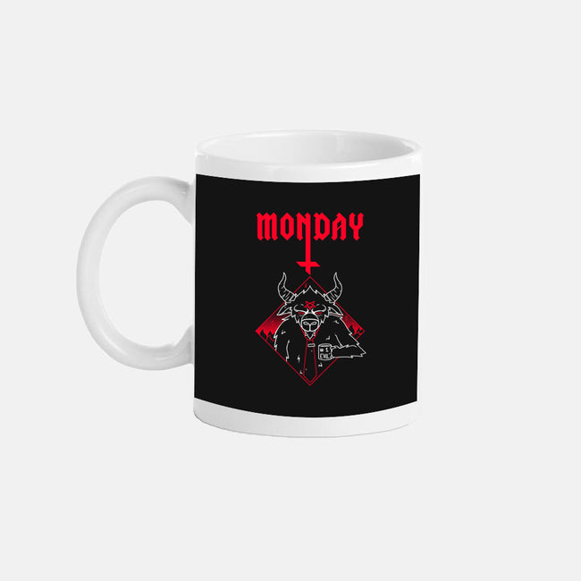 Black Monday-none glossy mug-theteenosaur