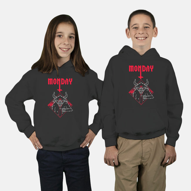 Black Monday-youth pullover sweatshirt-theteenosaur