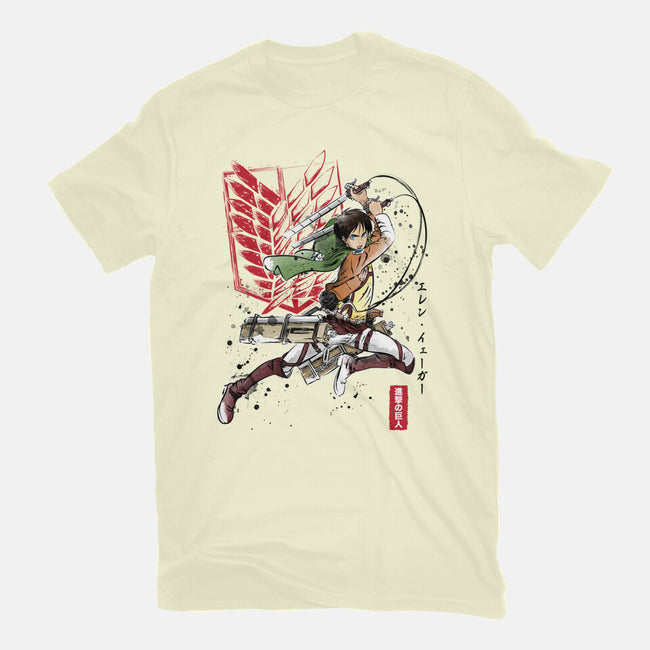 Soldier Eren-youth basic tee-DrMonekers