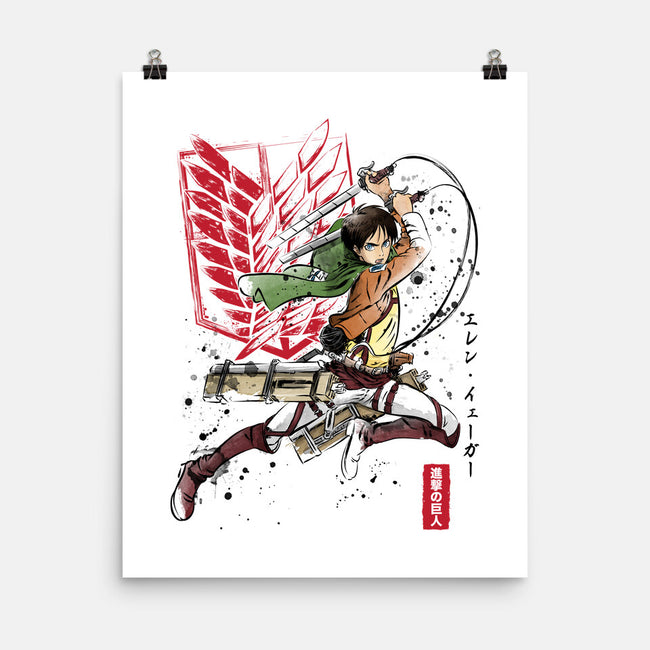 Soldier Eren-none matte poster-DrMonekers