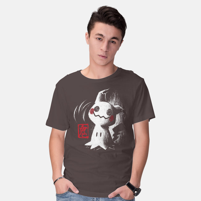 Cute Ghost Ink-mens basic tee-BlancaVidal