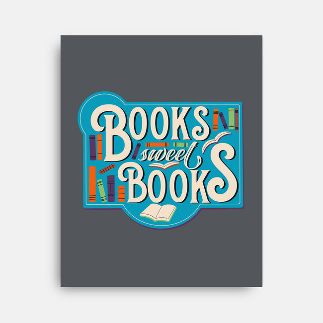 Books, Sweet Books-none stretched canvas-TaylorRoss1