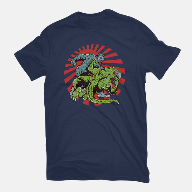 Gojira Vs King-mens basic tee-Green Devil