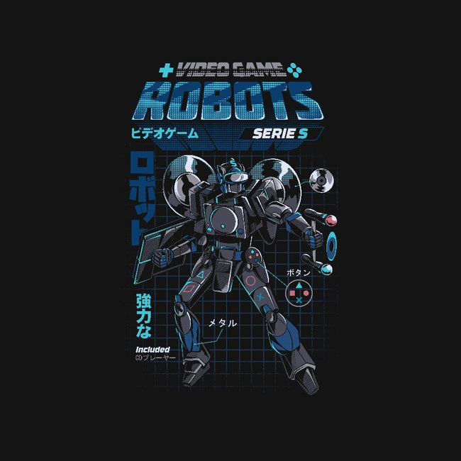 Video Game Robots-Model S-mens basic tee-ilustrata