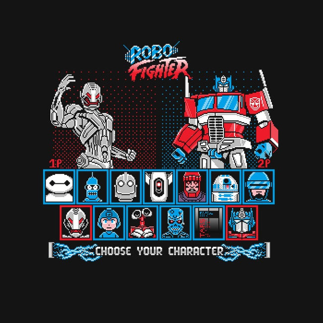 Robo Fighter-mens long sleeved tee-LavaLampTee