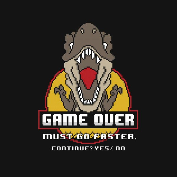 Game Over Dino-youth basic tee-jrberger