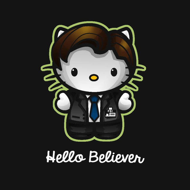 Hello Believer-womens fitted tee-Chriswithata