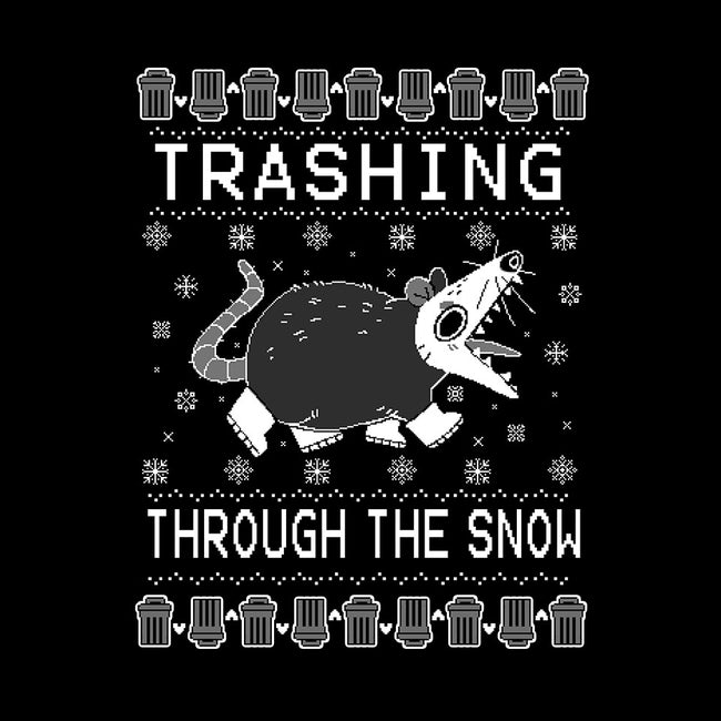 Trashing Through the Snow-unisex crew neck sweatshirt-identitypollution