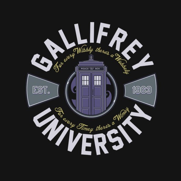 Gallifrey University-mens long sleeved tee-Arinesart