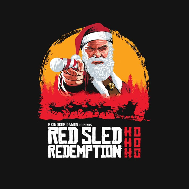 Red Sled Redemption-mens basic tee-Wheels