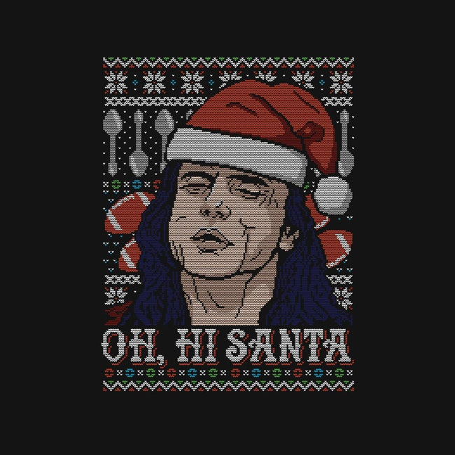Oh Hi Santa-womens fitted tee-CoD Designs
