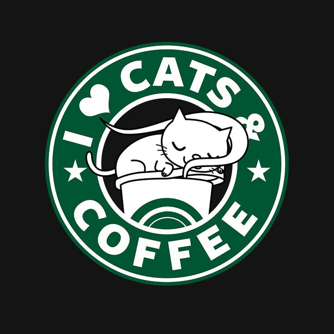 I Love Cats and Coffee-mens premium tee-Boggs Nicolas