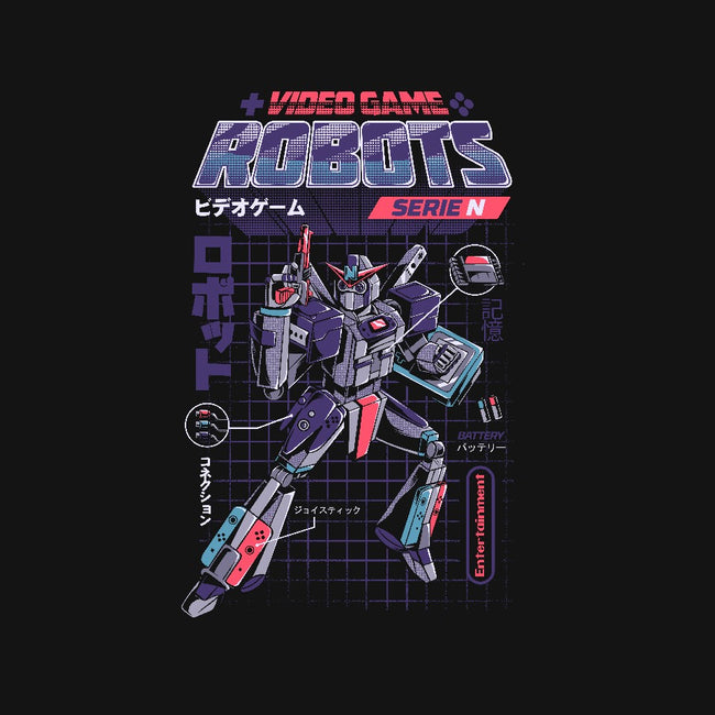 Video Game Robots-Model N-unisex basic tank-ilustrata